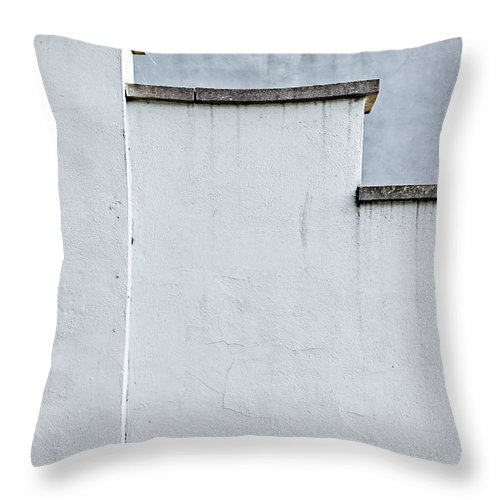 Abstract Throw Pillow featuring the photograph Old Wall Pattern by Tom Gowanlock