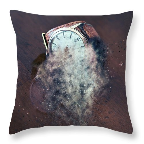 Old Wrist Watch Nuanced Throw Pillow For Sale By Enzo Art In Photography 18 X 18