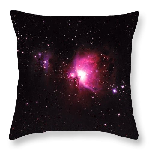 Natural Gas Throw Pillow featuring the photograph Orion Nebula by Plefevre