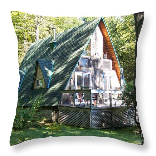 Cottage Throw Pillow featuring the photograph Our Little Eden by Jackie Mueller-Jones
