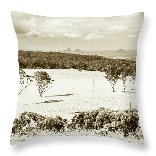 Landscape Throw Pillow featuring the photograph Outback And Beyond by Jorgo Photography - Wall Art Gallery