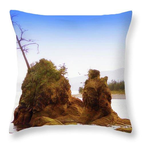 Outlying Tillamook Bay Throw Pillow featuring the photograph Outlying Tillamook Bay by Kandy Hurley