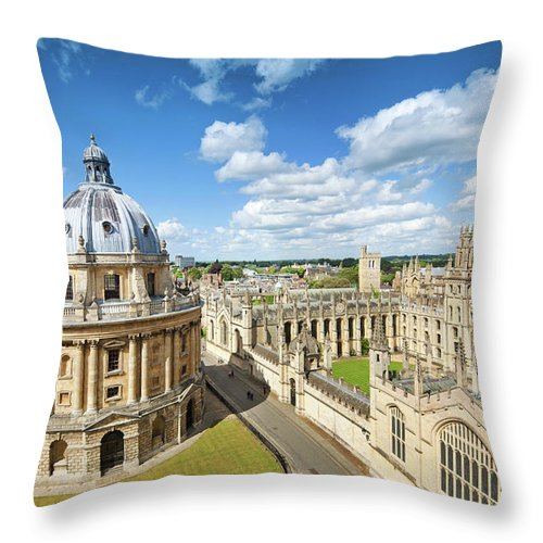Education Throw Pillow featuring the photograph Oxford, Uk by Nikada