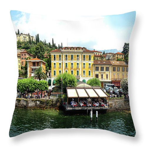Tranquility Throw Pillow featuring the photograph Panorama Of Bellagio From Lake Como by Melinda Moore