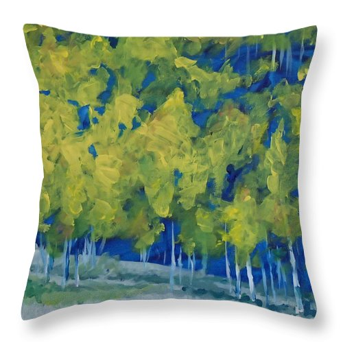 Forest Throw Pillow featuring the painting Park City Forest by Philip Fleischer