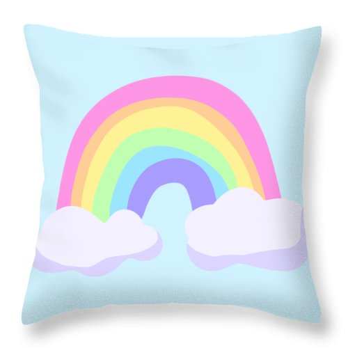 Pastel Rainbow Throw Pillow For Sale By Kelsey Lovelle