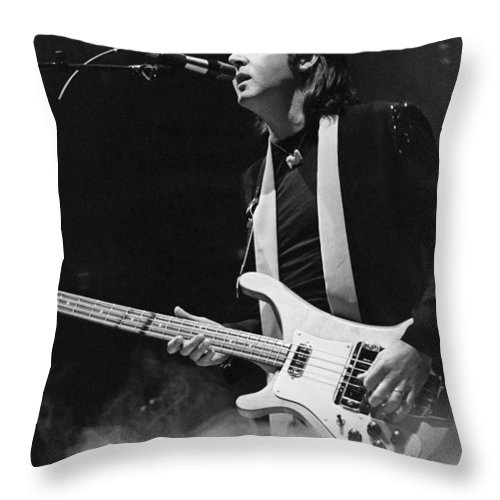 Bass Throw Pillow featuring the photograph Paul Mccartney by Thomas S England
