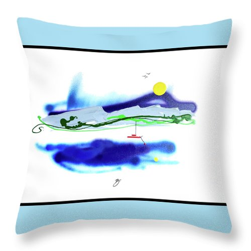 Mother Nature Love Throw Pillow featuring the painting Peace And Light by Dick Buckley