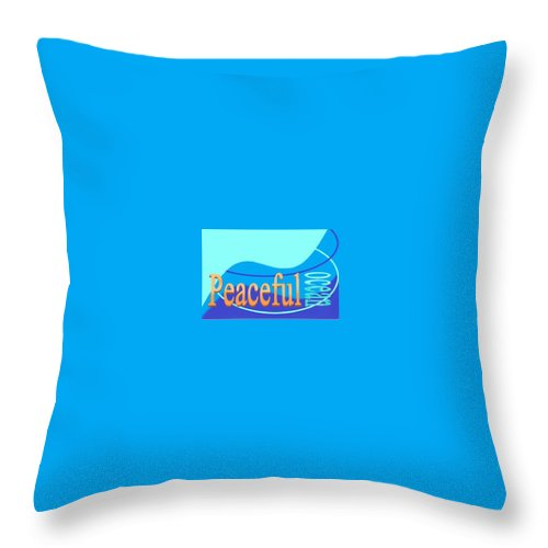 Throw Pillow featuring the digital art Peaceful Ocean by Andrew Johnson
