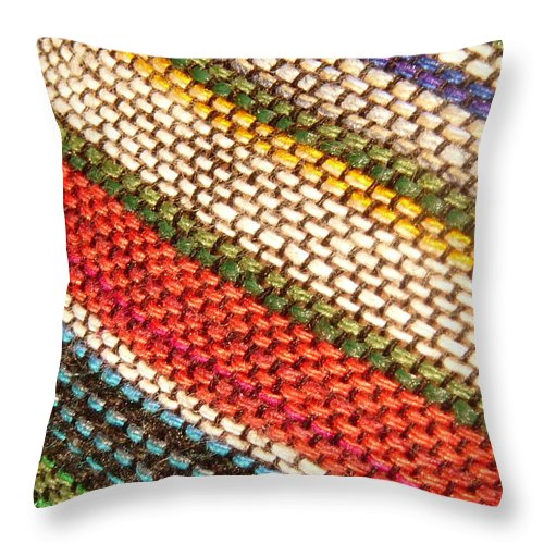 Art Throw Pillow featuring the photograph Peruvian Fabric Art by Images By Luis Otavio Machado