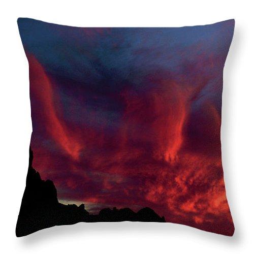 Arizona Throw Pillow featuring the photograph Phoenix Risen by Randy Oberg