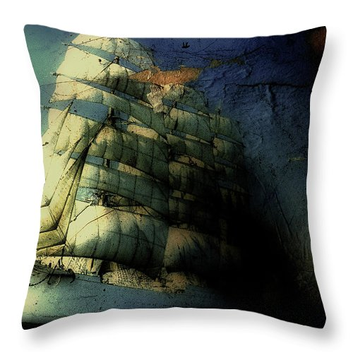 Sailboat Throw Pillow featuring the photograph Picture Of A Sailboat Painted On A by Win-initiative/neleman