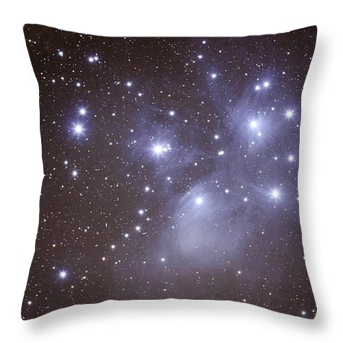 Majestic Throw Pillow featuring the photograph Pleides by Pat Gaines