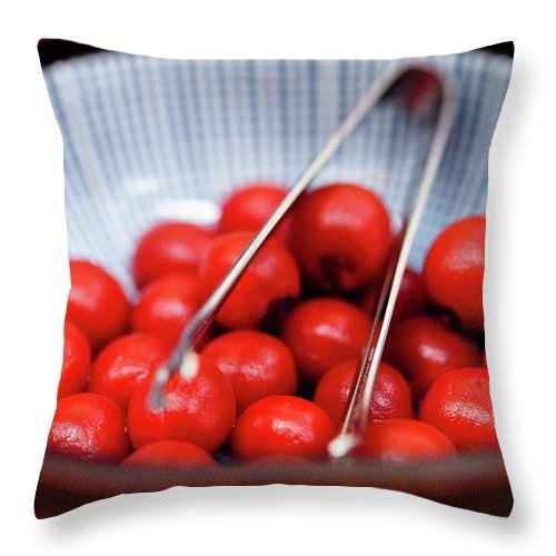 Plum Throw Pillow featuring the photograph Plum by Kyle Lin