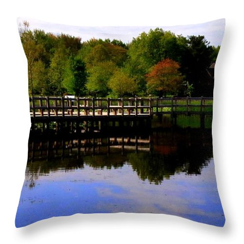 Pond Throw Pillow featuring the photograph Pond Refletions by Scott Heaton