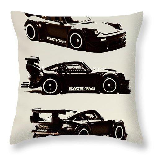 Porsche Throw Pillow featuring the photograph Porsche Rwb 930 by Jorgo Photography - Wall Art Gallery