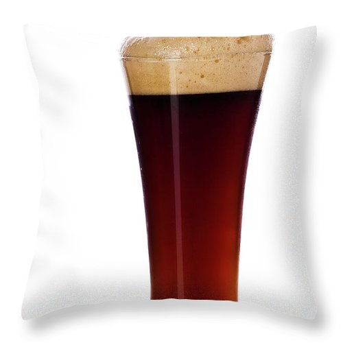 Stout Throw Pillow featuring the photograph Pouring The Lager by Eli asenova