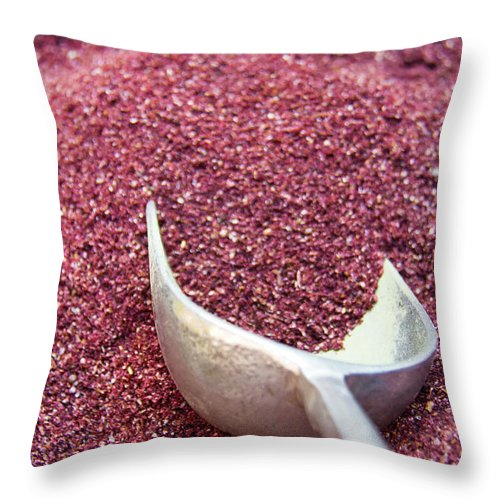 Spice Throw Pillow featuring the photograph Powder Spices by Lluís Vinagre - World Photography