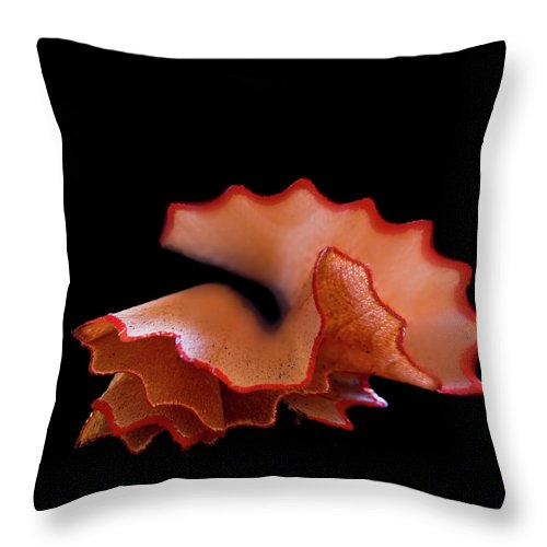 Black Background Throw Pillow featuring the photograph Prepared by Mse