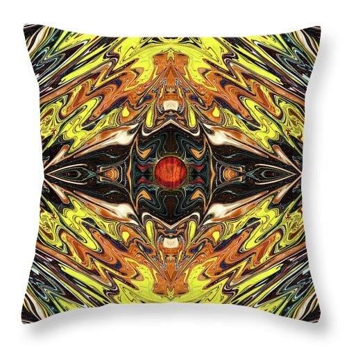 Abstract Throw Pillow featuring the digital art Psych Rock by Jack Entropy