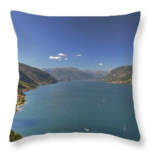 Scenics Throw Pillow featuring the photograph Quel Ramo Del Lago Di Como by Filippo Maria Bianchi