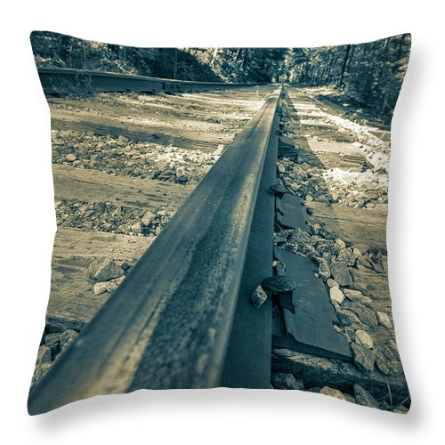 Railroad Throw Pillow featuring the photograph Rail Away by Keith Smith