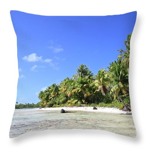 Tranquility Throw Pillow featuring the photograph Rangiroa - Isola Dei Coralli - Reef Isl by Loving And Living In This Planet
