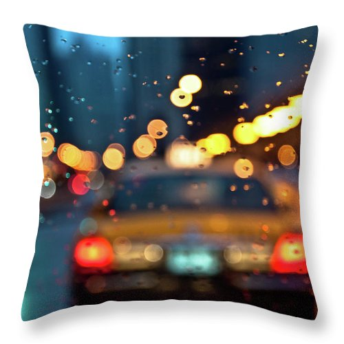 Car Interior Throw Pillow featuring the photograph Raw, Wet & Cold by Romeo Banias