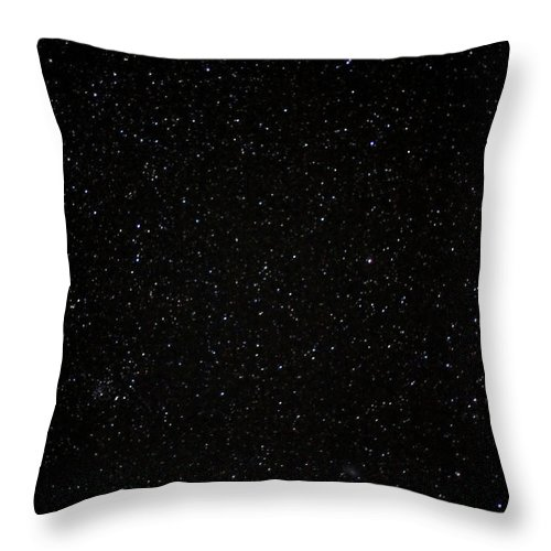 Long Throw Pillow featuring the photograph Real Night Sky by Aarstudio