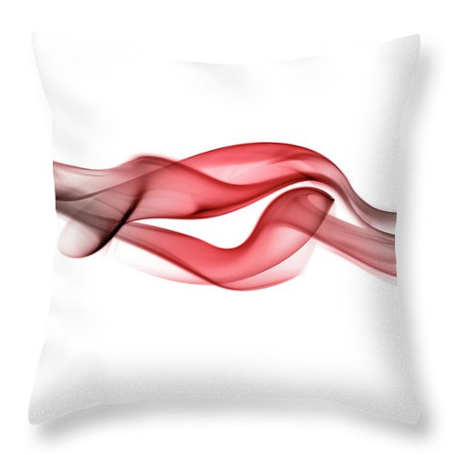 Curve Throw Pillow featuring the photograph Red Curling Smoke by Anthony Bradshaw