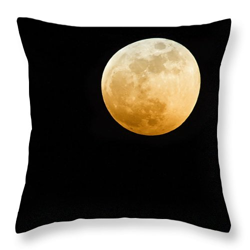 Shadow Throw Pillow featuring the photograph Red Moon by Stevedangers