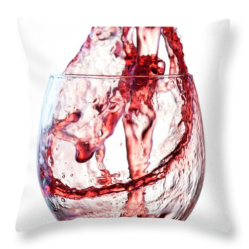 Spray Throw Pillow featuring the photograph Red Wine Splash by Socjosenspg