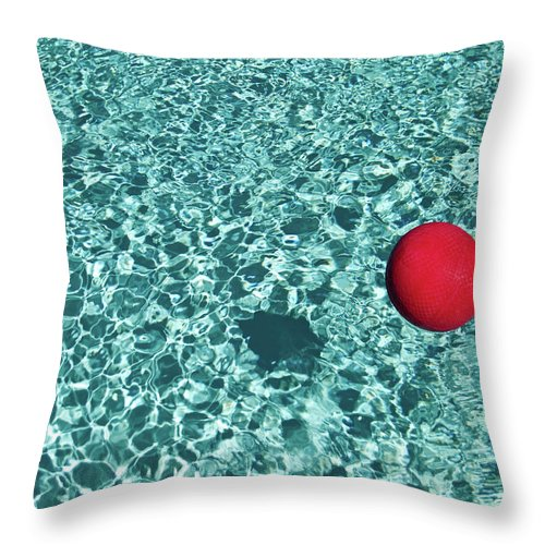 Ball Throw Pillow featuring the photograph Reflection by Mark A Paulda