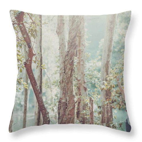 Three Quarter Length Throw Pillow featuring the photograph Relaxing In Nature By Stretching And by D3sign
