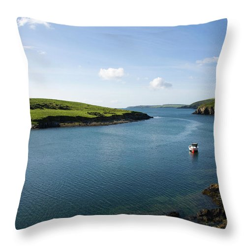 Scenics Throw Pillow featuring the photograph Republic Of Ireland, County Cork, Inlet by David Epperson