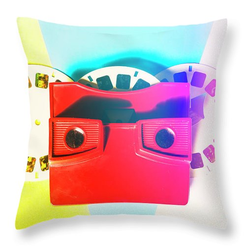 Reel Throw Pillow featuring the photograph Retro Reel by Jorgo Photography - Wall Art Gallery