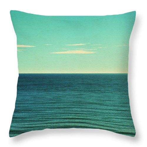 Scenics Throw Pillow featuring the photograph Retro Seascape Postcard by Farukulay