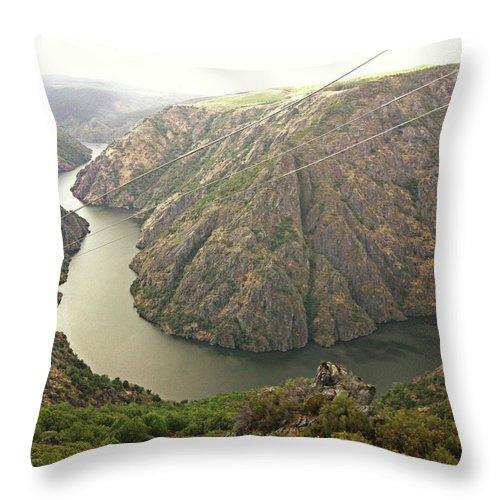 Tranquility Throw Pillow featuring the photograph Ribeira Sacra by Salomé Fresco