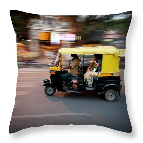 People Throw Pillow featuring the photograph Rickshaw by Javi Julio Photography