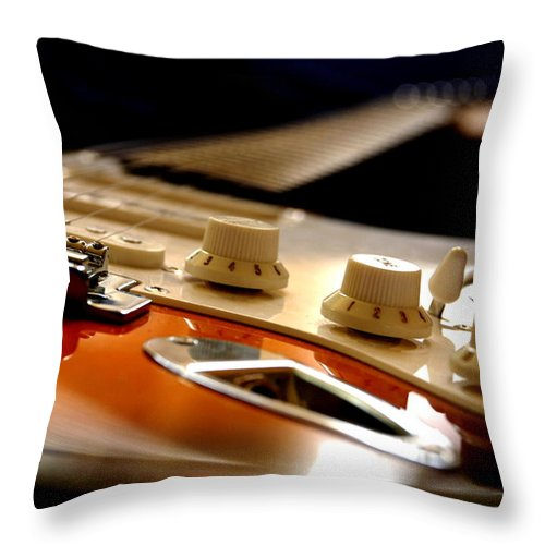 Music Throw Pillow featuring the photograph Rock & Soul by Pasotraspaso. Jesus Solana