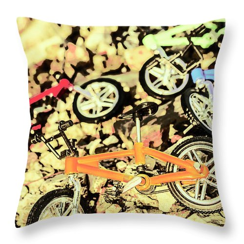 Sport Throw Pillow featuring the photograph Rocky Racers by Jorgo Photography - Wall Art Gallery