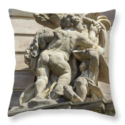 Alsace Throw Pillow featuring the photograph Rohan Palace Sculpture by Teresa Mucha