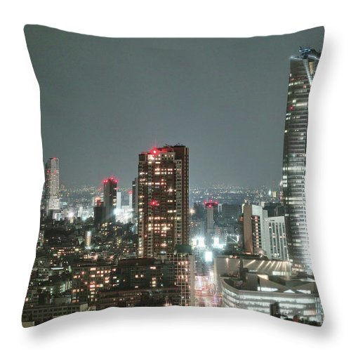 Tokyo Tower Throw Pillow featuring the photograph Roppongi From Tokyo Tower by Spiraldelight