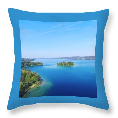 Starnberg Throw Pillow featuring the photograph Roseisland by Daniel Hornof