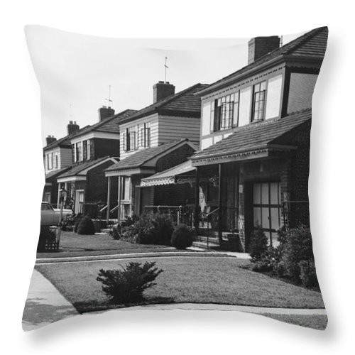 1950-1959 Throw Pillow featuring the photograph Row Of Houses by George Marks