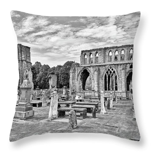 Photography Throw Pillow featuring the photograph Ruins Of A Cathedral, Elgin Cathedral by Panoramic Images
