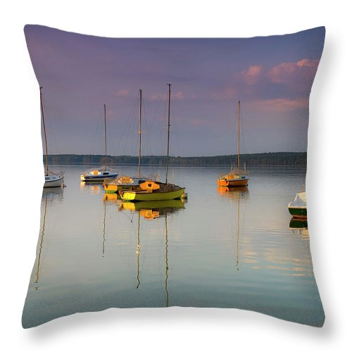 Sailboat Throw Pillow featuring the photograph Sail To Nowhere by Michal Sleczek