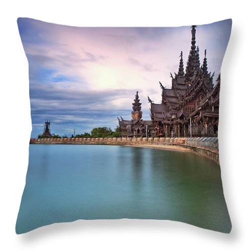 Tranquility Throw Pillow featuring the photograph Sanctuary Of Truth by Nutexzles
