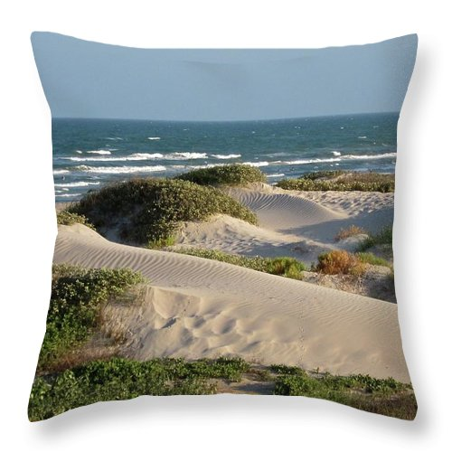 Tranquility Throw Pillow featuring the photograph Sand Dunes by Joe M. O'connell