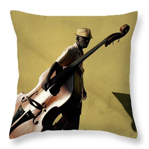 One Man Only Throw Pillow featuring the photograph Santiago De Cuba, Cuba by Buena Vista Images